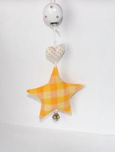 Kinderwagenanhänger Stern,orange/weiß