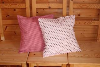 Kissenbezüge  2 Stk. rot/weiß 40x40 cm