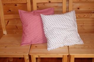 Kissenbezüge  2 Stk. rot/grau/weiß 40x40 cm