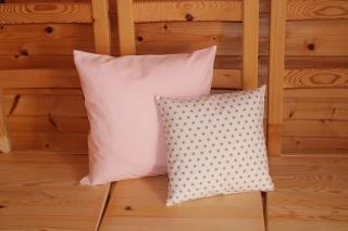 Kissenbezüge  2 Stk. rosa/weiß/beige
