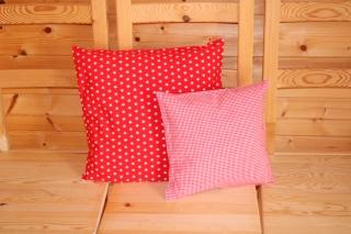 Kissenbezüge  2 Stk. rot/weiß