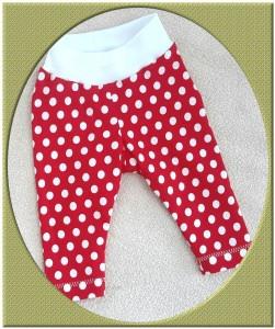 Selbst genähte Babyleggins, Babyhose, Gr. 52 - Handarbeit kaufen