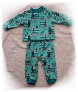 Babyanzug, Babyschlafanzug,selbst genäht, Gr.:80 - Handarbeit kaufen