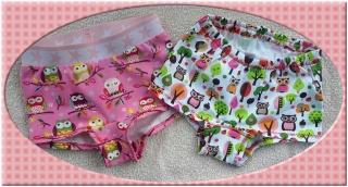 Mädchenpants im Set von 2 Stück, Gr.:104 für Eulenfans! - Handarbeit kaufen