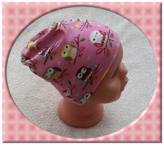 Kinderwendemütze, Mädchenmütze, Mädchenwendebeanie, Gr.: 44-46cm