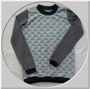 Jungenlangarmshirt für Treckerfans! Gr.: 140 - Handarbeit kaufen