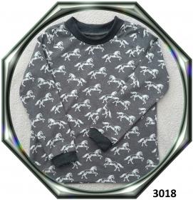 Langarmshirt für Pferdenarren! Gr.: 128 - Handarbeit kaufen