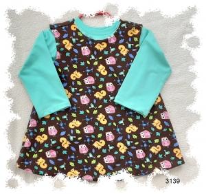 Babyträgerkleid mit Langarmshirt! Wendekleid!  Gr. 86 - Handarbeit kaufen