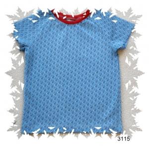 Kinder T-Shirt mit hübschen, bunten Dreiecken , Gr.:92 - Handarbeit kaufen