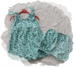 Babykleid mit dazu passender Hose! Gr.: 80/86 - Handarbeit kaufen