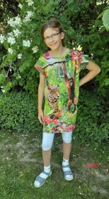 Kinderkleid mit 3-D Urwald! - Handarbeit kaufen