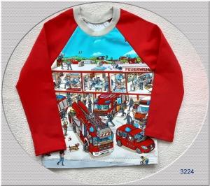 Langarmshirt mit tollen Bildern für Feuerwehrfans, ab Gr.: 92! - Handarbeit kaufen