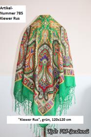 Ukrainischer Traditionsschal mit Fransen im Design