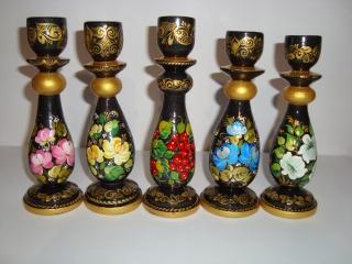 Handgearbeiteter Kerzenhalter aus Holz, Unikat, 15 cm hoch - Handarbeit kaufen