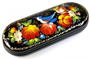Handbemaltes russisches Brillenetui, Unikat, mit Signatur des Künstlers - Handarbeit kaufen