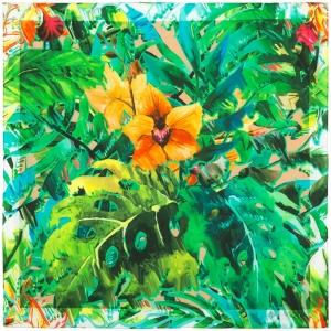 Russischer Schal, gesäumt, 75x75 cm, Baumwolle, Design Blumenstrauss - Handarbeit kaufen