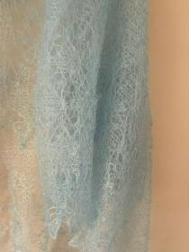 Luxus-Orenburg-Schal aus Ziegenwolle mit 20% Seide, 140 x 140 cm, Farbe: wasserfarben - Handarbeit kaufen