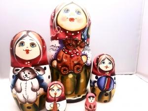 Handgearbeitete Matroschka, Motiv Spielzeug, 5-er Set, Unikat - Handarbeit kaufen