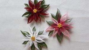 3 Weihnachtssterne aus Kartonpapier, verschiedenfarbig,11 cm Durchmesser, Unikate