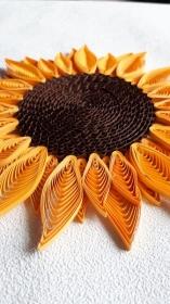 Sonnenblume, groß, aus Kartonpapier, zum Aufhängen, Handarbeit, Unikat - Handarbeit kaufen