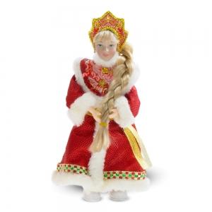 Schneemädchen, Dekorartikel, 23 cm,, rot - Handarbeit kaufen