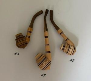 Handgeschnitzte Pfeifen aus Holz, verschiedene Arten und Größen, Kirschbaum-Holz, Unikate   - Handarbeit kaufen