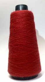 Orenburger Ziegenwolle 100% Natur, vegan, rot, aus Russ. Föderation, Kegelgewicht 150 Gramm / 2700 Meter  - Handarbeit kaufen