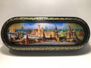 Russisches Brillenetui, aufklappbar, 16 x 6 x 3,5 cm   - Handarbeit kaufen