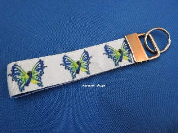 Schlüsselband / Schlüsselanhänger Schmetterling mit Schleife ♥ Down-Syndrom♥