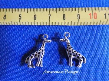 Giraffe Anhänger Metallanhänger Tieranhänger zur Schmuckherstellung