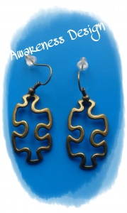 Ohrhänger Puzzleteil ♡ Bronzefarben Ohrringe Puzzle