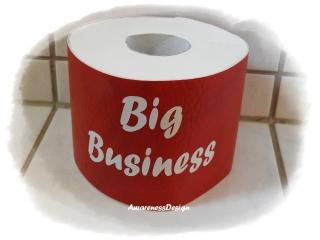 Toilettenpapierverstecker Klorollenhülle Banderole für Toilettenpapierrolle mit Spruch