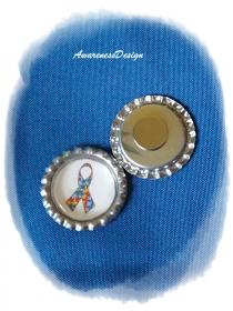 Kühlschrankmagnet Autismusschleife Kronkorkenmagnet Bottlecap