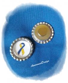 Kühlschrankmagnet Downsyndrom Bekenntnisschleife Kronkorkenmagnet Bottlecap