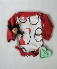 ❤️Body Pinguin in Größe 74 Weihnachtsmotiv