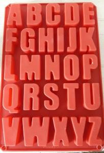 Silikonformen Buchstaben, Großschrift, jeder Buchstabe ca.5 cm hoch, bei ideenReich kaufen