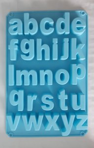 Silikonform Buchstaben, Kleinschrift, bei ideenReich kaufen
