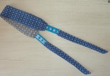 Sportstirnband mit seitlichem Gummizug in blau-grau von ideenReich kaufen