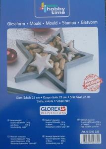 Gießform Sternschale, 22cm, für Beton oder Gips bei ideenReich kaufen