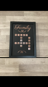 Personalisierter Familienbilderrahmen - Handarbeit kaufen