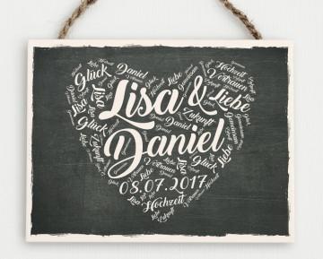 Hochzeitsgeschenk - Holzschild