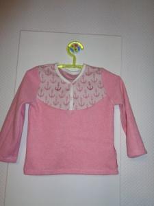 Kuschliges Sweatshirt, Gr.80 ,JaquardJersey,f. Mädchen,Handmade