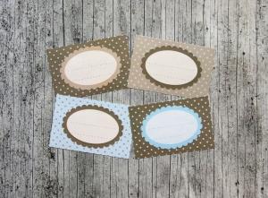 Etiketten Mocca 16 Stück gummiertes Papier Aufkleber Sticker Marmeladenetikett