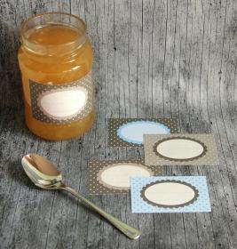 Etiketten Mocca 16 Stück gummiertes Papier Aufkleber Sticker