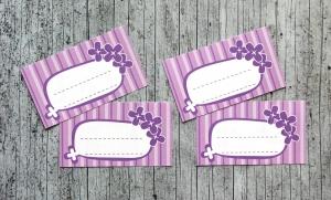 Etiketten Lilac 12 Stück gummiertes Papier Aufkleber Sticker Marmeladenetikett