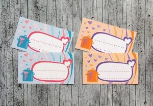 Einmachetiketten **mitHerz** von ZWEIFARBIG 12 Stück gummiertes Papier Etiketten Aufkleber Sticker Einmachsticker Marmeladenetiketten Dekoration - Handarbeit kaufen
