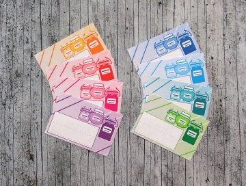 Einmachetiketten **GlasMix1** von ZWEIFARBIG 16 Stück gummiertes Papier Aufkleber Sticker Marmeladenetikett - Handarbeit kaufen