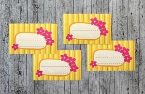 Einmachetiketten **Sommer1** von ZWEIFARBIG 16 Stück gummiertes Papier Aufkleber Sticker Etiketten Dekoration Marmeladenetikett - Handarbeit kaufen