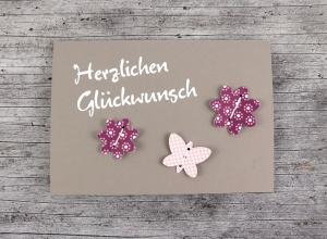 3D-Klappkarte **Blumen2** mit Kuvert Geburtstag Grußkarte Geburtstagskarte Geburtsgrüße  - Handarbeit kaufen