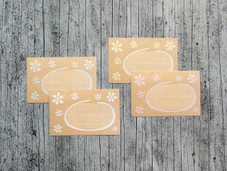 Einmachetiketten **Natur2** von ZWEIFARBIG 16 Stück gummiertes Papier Etiketten Aufkleber Sticker Kraftpapier Marmeladenetiketten Dekoration - Handarbeit kaufen